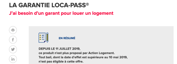 locapass garant - la fin du dispositif d'Action Logement